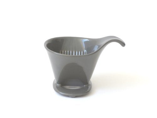 Bee House Ceramic Coffee Dripper - Drip Cone Brewer (Steel Gray)