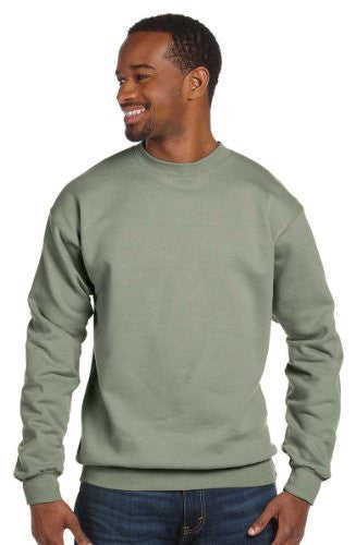 Hanes ComfortBlend Long Sleeve Fleece Crew - p160 (Stonewashed Green / XX-Large)