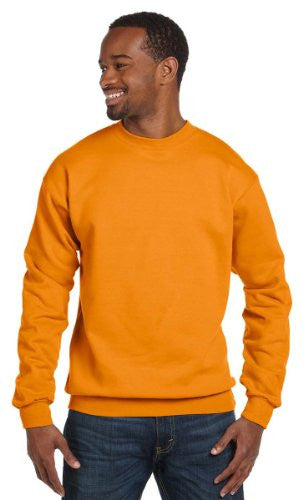 Hanes ComfortBlend Long Sleeve Fleece Crew - p160 (Safety Orange / XXX-Large)