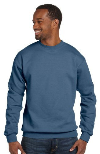 Hanes ComfortBlend Long Sleeve Fleece Crew - p160 (Denim Blue / Small)
