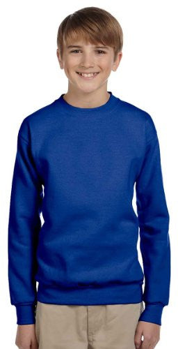Hanes Youth ComfortBlend Long Sleeve Fleece Crew - p360 (Deep Royal / Large)