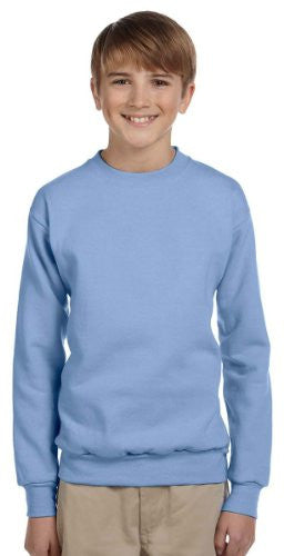 Hanes Youth ComfortBlend Long Sleeve Fleece Crew - p360 (Light Blue / Large)