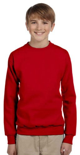 Hanes Youth ComfortBlend Long Sleeve Fleece Crew - p360 (Deep Red / Small)