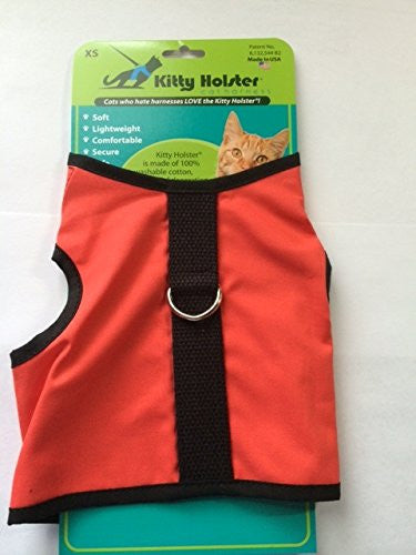 Kitty Holster Cat Harness, Extra Small, Coral Red