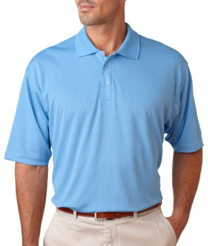 UltraClub Men's UC Performance Polo Shirt (Columbia Blue / XXX-Large)