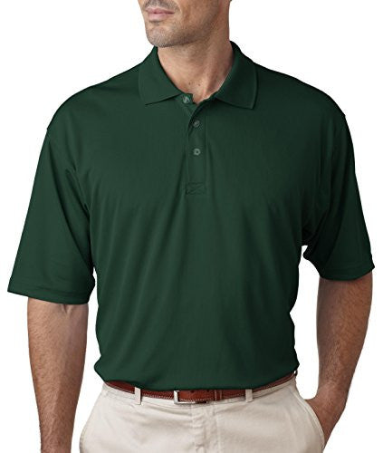 UltraClub Men's UC Performance Polo Shirt (Forest green / Medium)