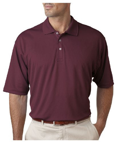 UltraClub Men's UC Performance Polo Shirt (Maroon / XXXXX-Large)