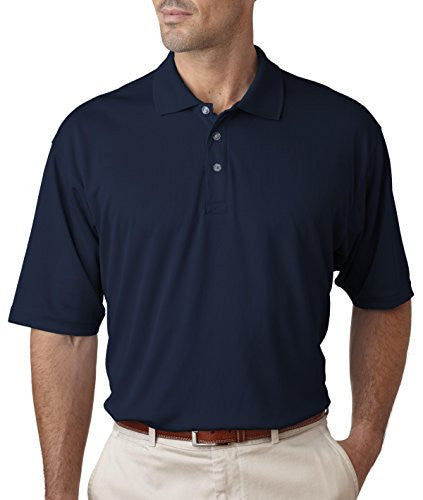 UltraClub Men's UC Performance Polo Shirt (Navy / XXXX-Large)