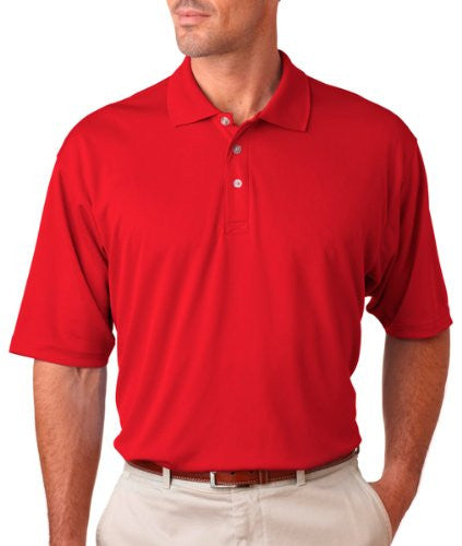 UltraClub Men's UC Performance Polo Shirt (Red / XXXX-Large)