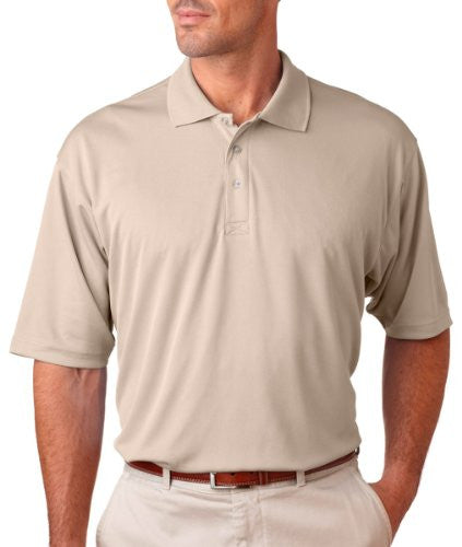 UltraClub Men's UC Performance Polo Shirt (Stone / XXXX-Large)
