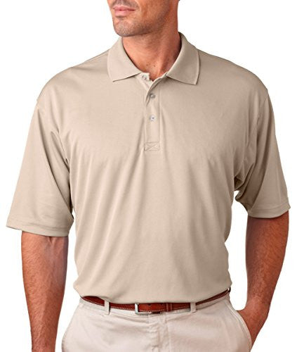 UltraClub Men's UC Performance Polo Shirt (Stone / XXXXX-Large)