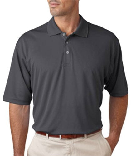 UltraClub Men's UC Performance Polo Shirt (Charcoal / XXXXX-Large)