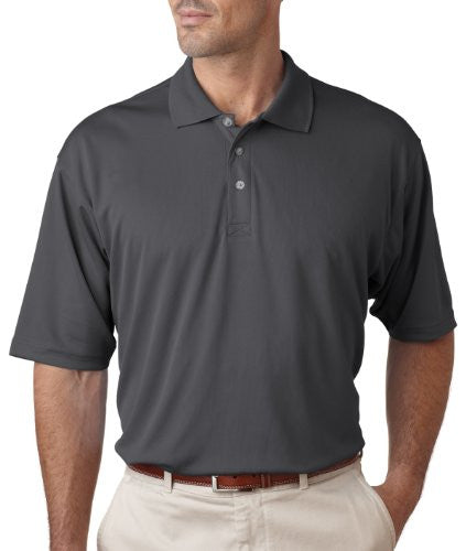 UltraClub Men's UC Performance Polo Shirt (Charcoal / Medium)
