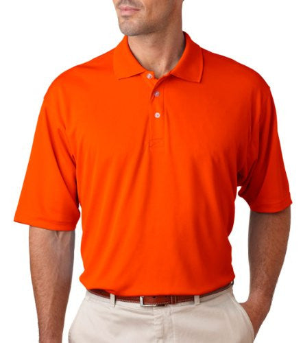 UltraClub Men's UC Performance Polo Shirt (Orange / XXXXXX-Large)