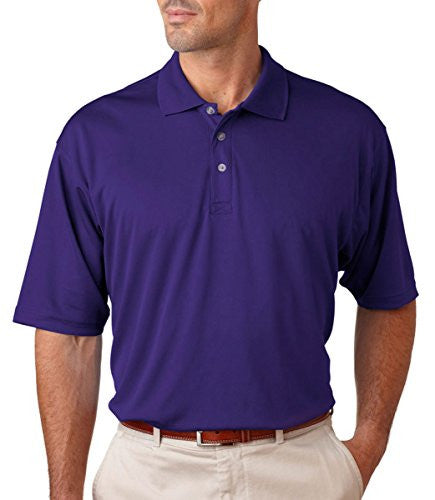 UltraClub Men's UC Performance Polo Shirt (Purple / XXXX-Large)