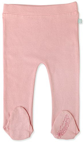 Bridal Rose Footed Pants, Girl 9-12m