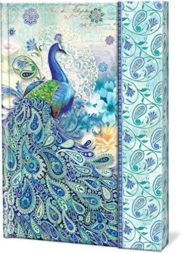 Paisley Peacock Journals with Magnetic Flap Closure
