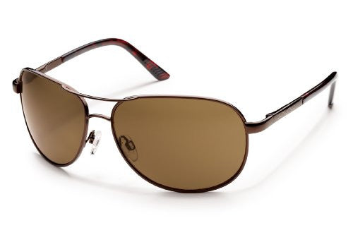 Suncloud Polorized Optics AVIATOR Metal Frame Brown /Lens Brown