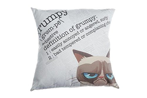 16 Inch Grumpy Cat  Square Decor Pillow Definition Of Grumpy