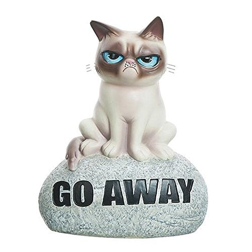 "Grumpy Cat Rock Figurine ""Go Away"""