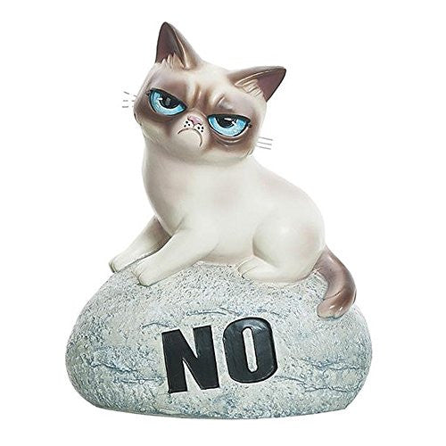 "Grumpy Cat Rock Figurine ""NO"""