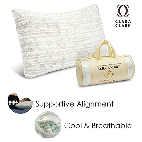 Bamboo Memory Form Gel Pillow King