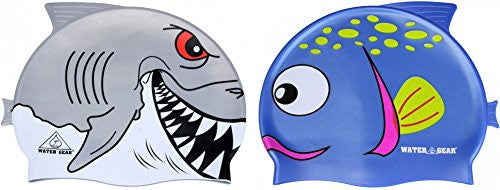 Water Gear Critter Cap (Grey White & Spotted Blue)
