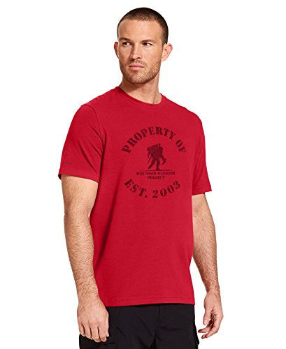 "UNDER ARMOUR WWP ""Property Of"" T-Shirt Red/Black Small"