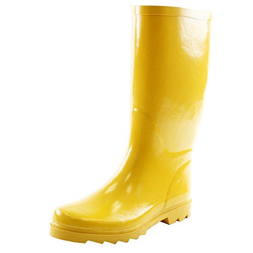 Wholesale Women's Rain Boots - Yellow, Size 6