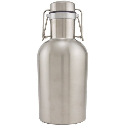Stainless Steel Beer Growler - 32 oz - Single wall