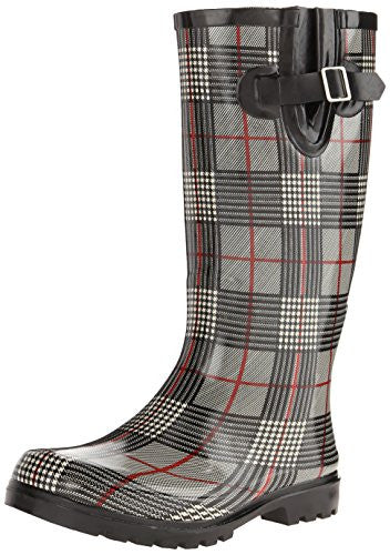 Nomad Footwear Women's Puddles Rainboot, Black/Red Plaid, 11 M US