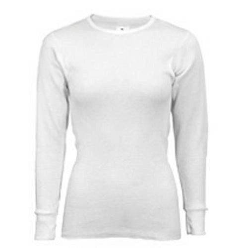 Indera - Womens Long Sleeve Thermal Top, 5000LS (White / Medium)