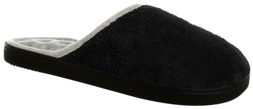 Microterry Wider Width Clog, Black, 8 1/2-9