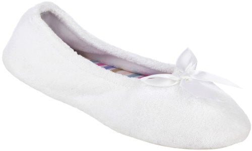 Terry Ballerina, White with Stripe, Large