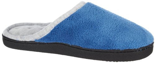 Microterry Wider Width Clog, Denim,  8 1/2-9
