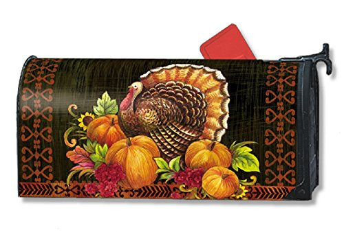 "OS Give Thanks Turkey Mail Wrap, 8"" x 21"" Mailbox"