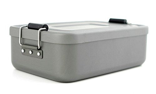 ALUMINUM LUNCH BOX GREY