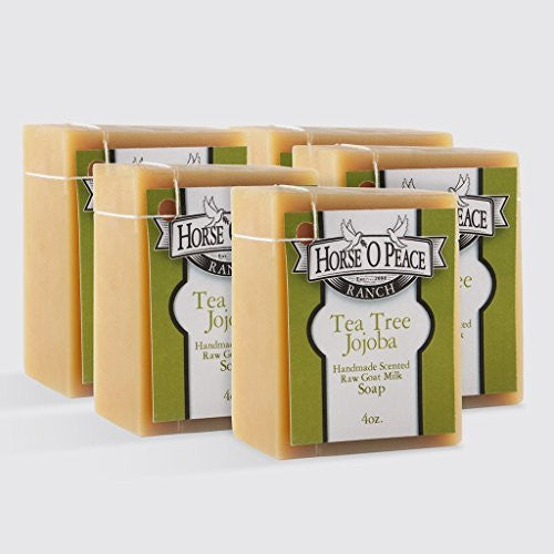 Tea Tree Jojoba Goat Milk Bar Soap - 4 oz.