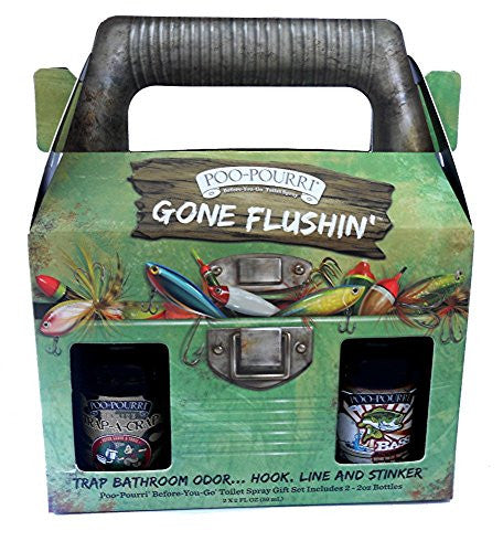 Gone Flushin' Gift Set with 2-2oz Men's Scents