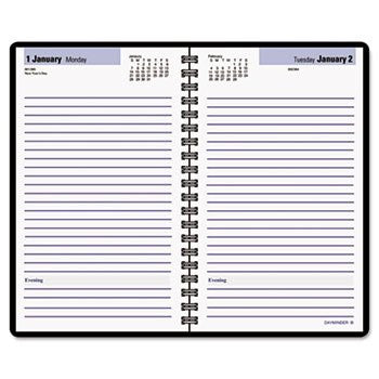 "DayMinder 2015 Recycled Daily Planner Book, Black, 4 7/8"" x 8"""