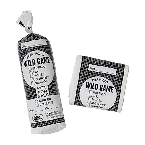 1 lb. Wild Game Bags - 1000 count (full box)