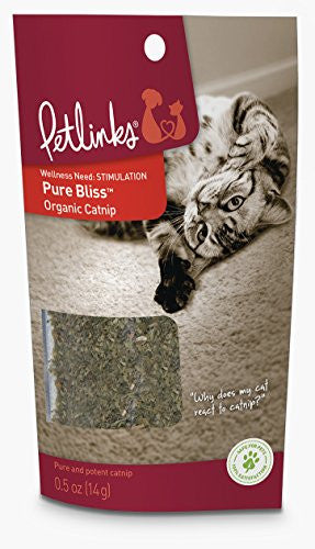 Petlinks Pure Bliss Organic Catnip, 0.5 oz