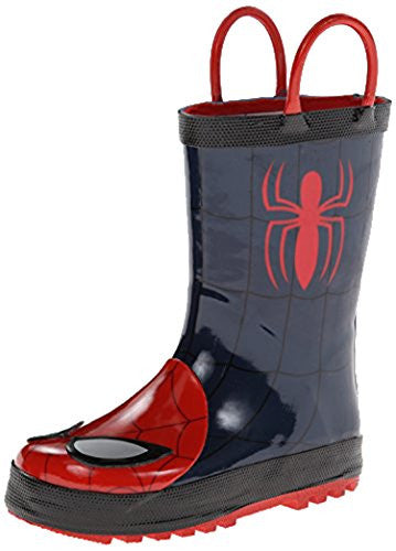 Western Chief Kids Marvel Superhero Rubber Pull On Rain Boot,3 M US Little Kid,Navy Ultimate Spider-Man.Navy Ultimate S