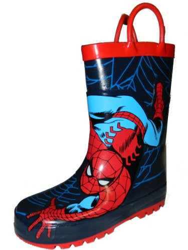 Western Chief Kids Marvel Superhero Rubber Pull On Rain Boot,9 M US Toddler,Red Spiderman.Red Spiderman