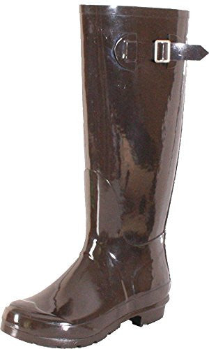 Nomad Women's Hurricane Rain Boot,7 B(M) US,Shiny Brown