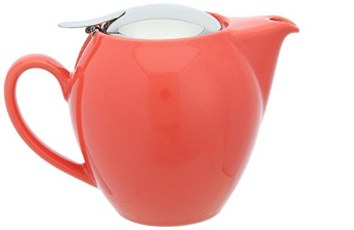 Bee House Ceramic 22 Ounce Round Teapot (Carrot)