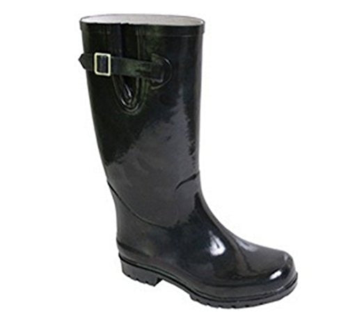 Nomad Women's Puddles Rain Boot,10 B(M) US,Solid Black