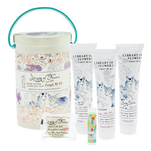Library of Flowers Field Kit: Bath Goods Sampling Kit (Forget Me Not)