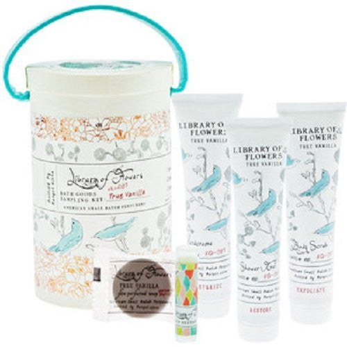 Library of Flowers Field Kit: Bath Goods Sampling Kit (True Vanilla)