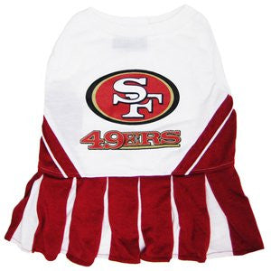San Francisco 49ers Cheerleader Dog Dress, medium